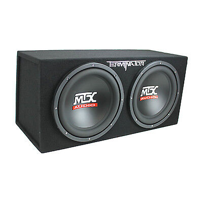 MTX TNE212D 12-Inch 1200-Watt Car Audio Dual Loaded Subwoofer Box Enclosure