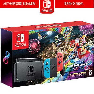 Nintendo Nintendo Switch w/ Mario Kart 8 Deluxe Bundle
