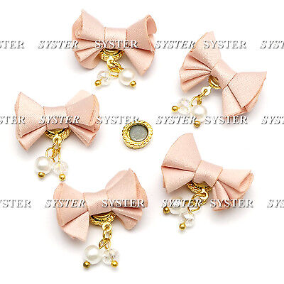 5 Pcs Fabric Magnet Jewelry 3D DIY Rhinestone Nail Art Decoration #SH-276H