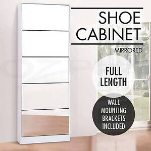 Pairs Mirrored Shoe Cabinet Rack Mirror Storage Organiser New Brisbane City Brisbane North West Preview
