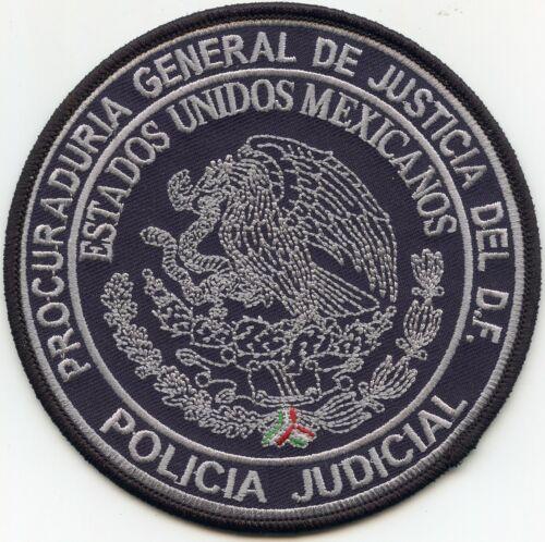 MEXICO ATTORNEY GENERAL OF JUSTICE JUDICIAL POLICIA POLICE PATCH