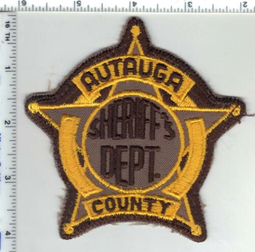 Autauga County Sheriff (Alabama) 1st Issue Uniform Take-Off Shoulder Patch