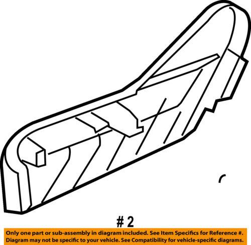 Chrysler Oem Seat Track Side Shield Left 1jb13dx9ab