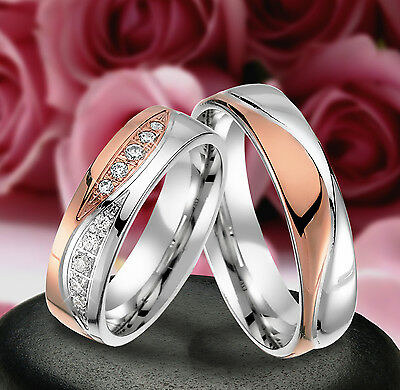 2 Echt Silber 925 Trauringe Eheringe Verlobungsringe , Gravur Gratis , J320-WR