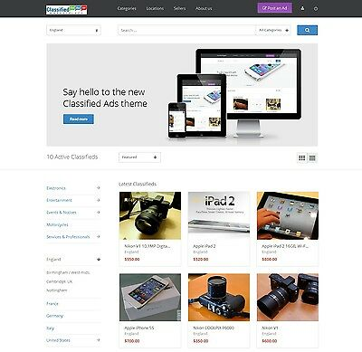 Classified Ads website Craigslist clone gumtree responsive design wordpress site
