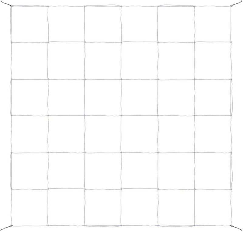iPower 3x3FT/4x4FT Elastic Trellis Netting with 6 Hooks for Grow Tent Greenhouse