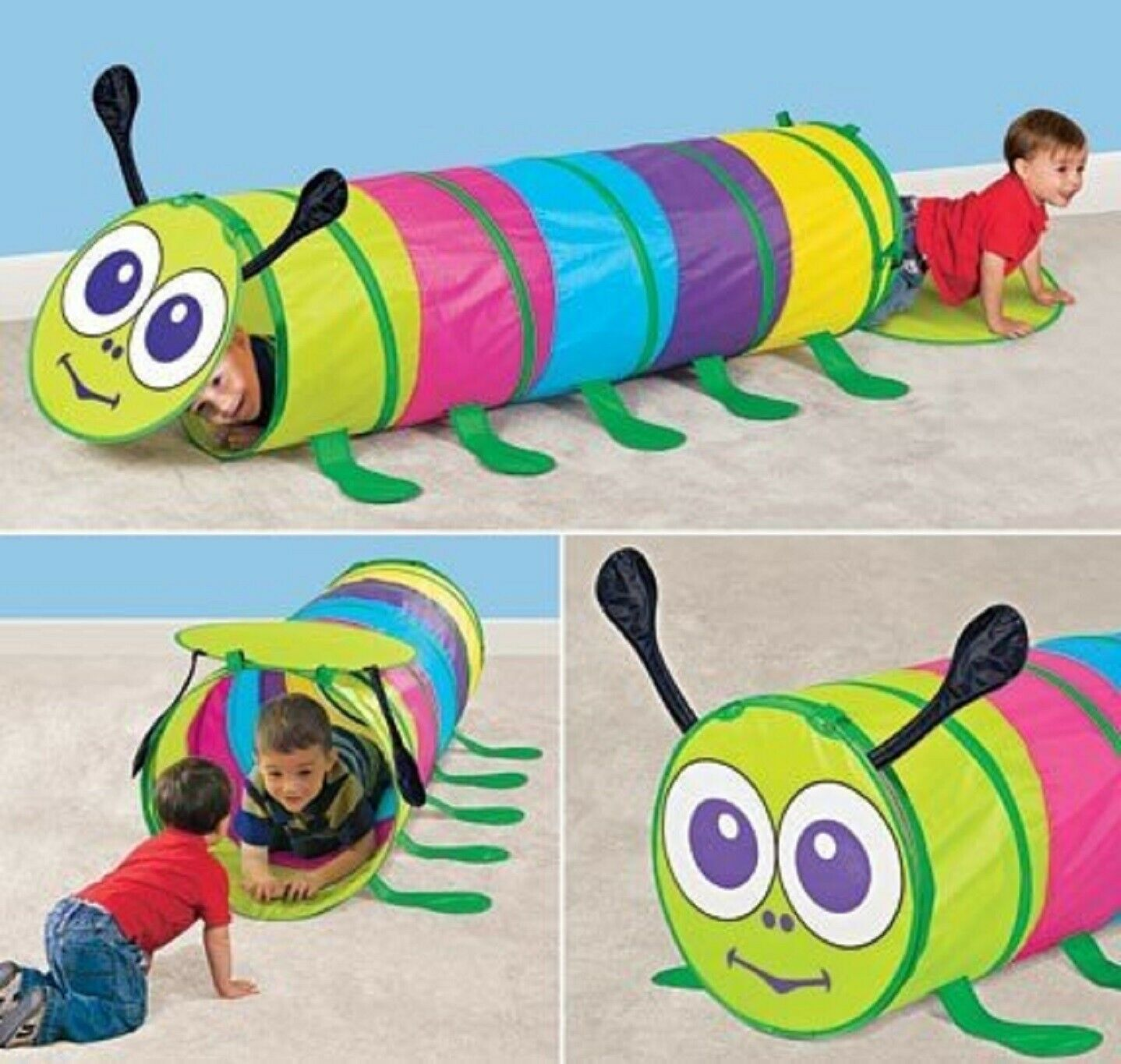 Caterpillar Tunnel Toddler Kids Toy Birth Day party Gift Play Child Colorful NIB Other Preschool & Pretend Play