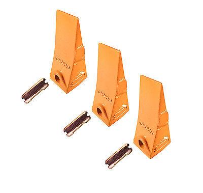 3 - Bobcat Style Mini Excavator Skid Steer Bucket Teeth W Pins - 6737325
