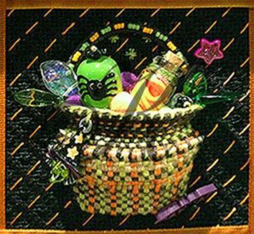 Needlepoint KELLY CLARK Halloween Tricks Basket KIT w/STITCH Guide