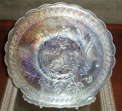 VINTAGE IMPERIAL CARNIVAL GLASS CHOP PLATE*MINT! *CHRYSTHANEMUM *  USA!!