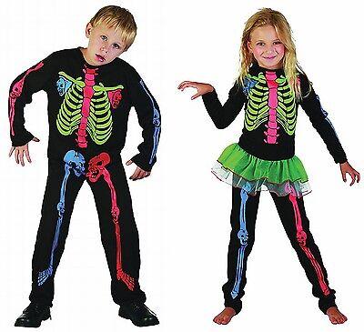 BOYS GIRLS FANCY DRESS HALLOWEEN SKELETON COSTUME OUTFIT 4 5 6 7 8 9 10 11 12 1 (Halloween Costumes For Girls 11-12)