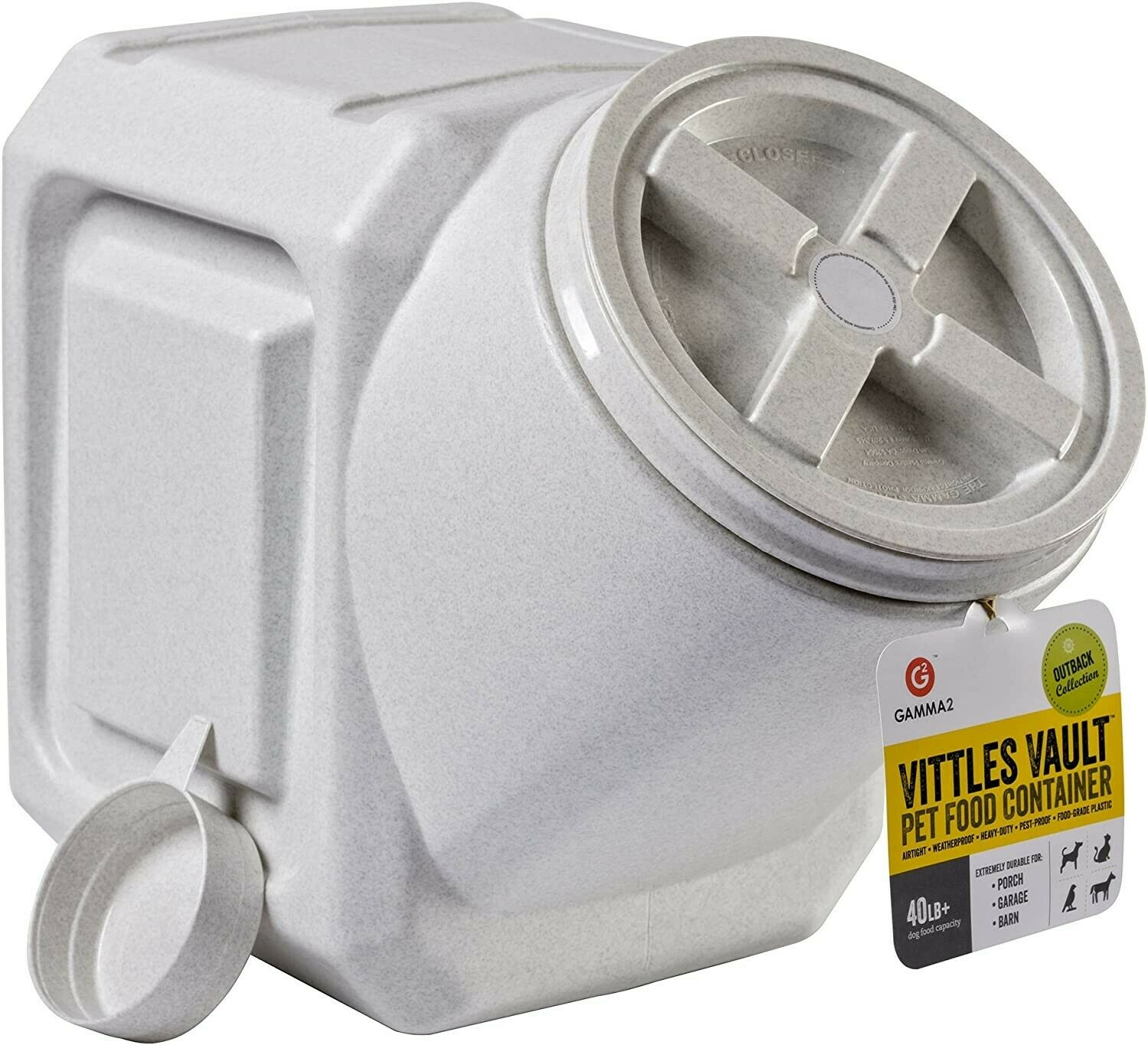 Vittles Vault Outback Stackable 40 Lb Airtight Pet Food Stor