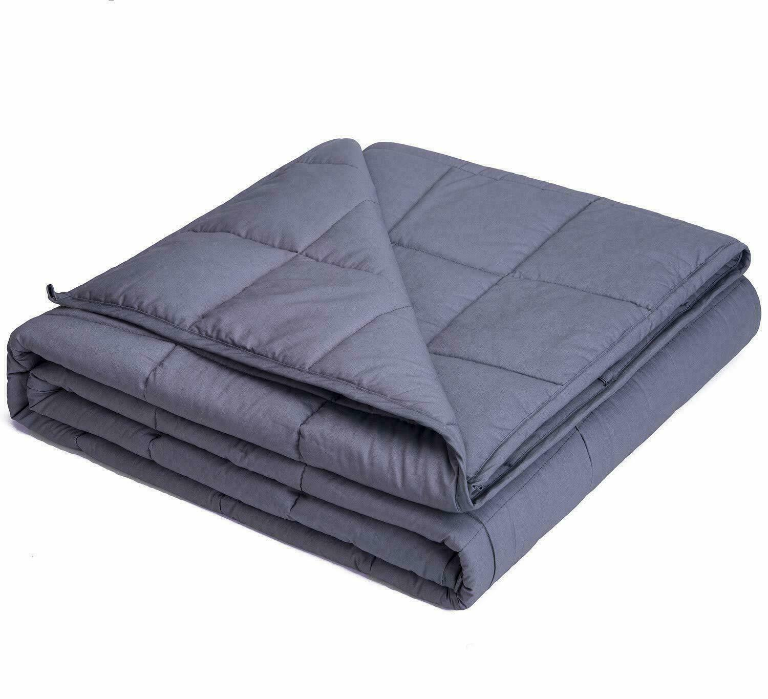 """Queen Size Weighted Blanket 60""""x80"""" 15lbs Reduce Stress Anxiety Autism Bedding"""