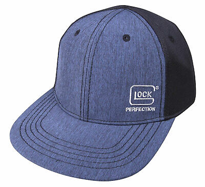 Glock  Pro-Curve Cap Hat Black/Navy Cotton/Mesh Hook Loop Back Strap AS10080 Pro Cotton Cap
