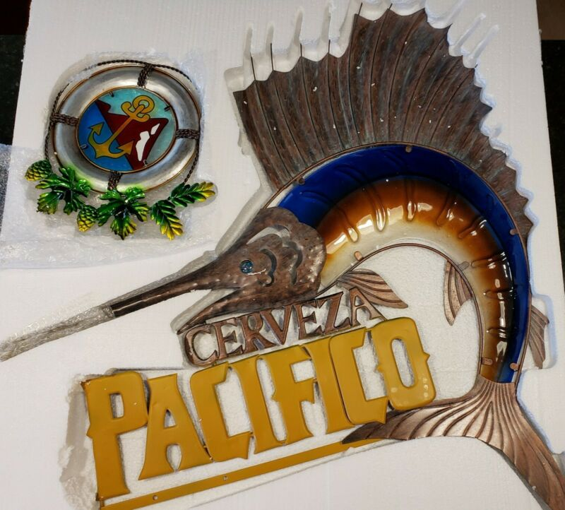 New Pacifico Metal Sailfish Sign 4ft×3ft Beer Liquor Sign