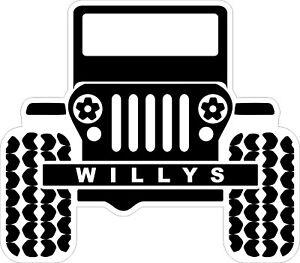 Willys-Jeep-Decal-Bumper-Sticker