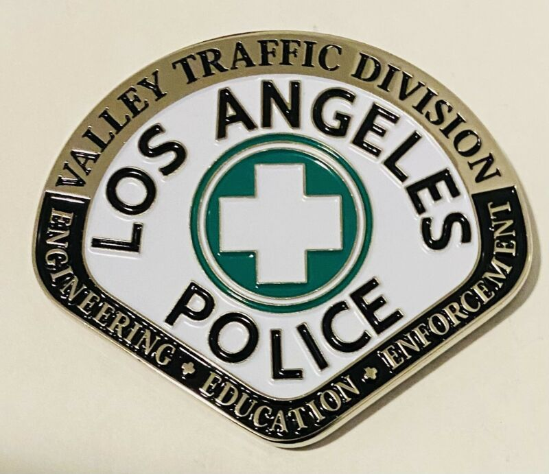 Sought After-Unique-Los Angeles Police-Valley Traffic -Police Challenge Coin