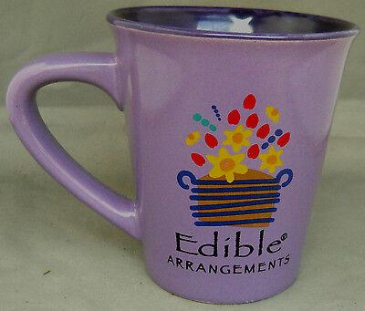 Mug 16Oz  Purple Edible Arrangements Flower Basket Design Logo Ceramic 5  Tall