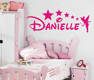 Personalised-Disney-tinkerbell-style-wall-art-sticker-name-any-name-3-sizes