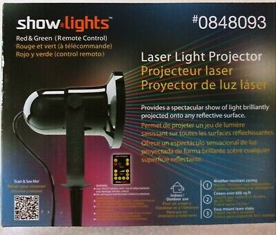 Show Lights, Laser Light projector # 0848093 Remote control Red/Green ()