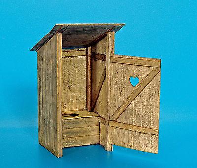 PLUS MODEL #263 Holz Toilette für Diorama in 1:35