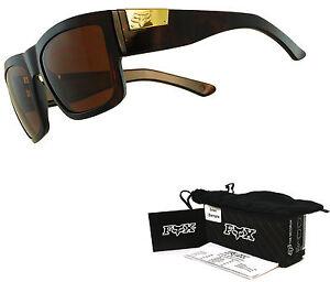 Fox The Decorum Sunglasses by Oakley Dark Brown Tort Dark Bronze Lens Sample USA