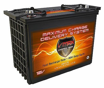 VMAX XTR12-155 powerboats WITH MOBILE AUDIO 155AH marine deep cycle 12V battery