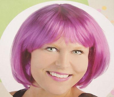 Damen Erwachsenen Perücke Bob pink Fasching Halloween Karneval - Karneval Erwachsenen Perücke