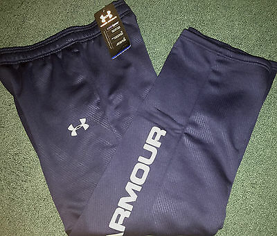 Under Armour Boys L Navy Blue/gray Graphic Print Cold Gea...