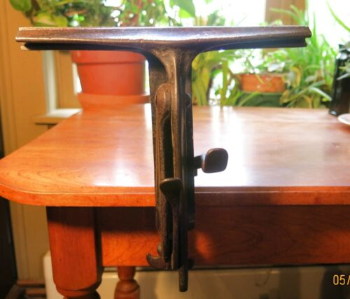 E. C. Stearns Patented Saw Vise A+ woodworkers Handsaw Sharpening - Bench mount