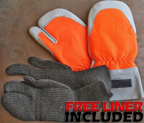 Chainsaw Protective Kevlar Mitt,w/ Trigger Finger Safety,...