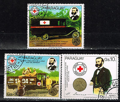 Paraguay Red Cross Cars set  Airmail 1985 stamps
