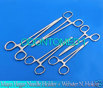 5 Assorted Mayo Hegar Needle Holder  Webster N Holder Surgical Instruments