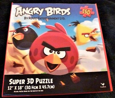 NEW Angry Birds Super 3D Puzzle 150 Pieces