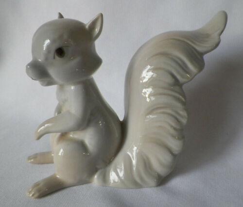 Vintage Miguel Requena Porcelain Gray Squirrel Figurine