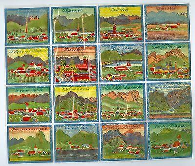 Bogen 16 Glanzbilder Sütterlin Schliersee Chiemsee Mittenwald Walchensee Bayern ()