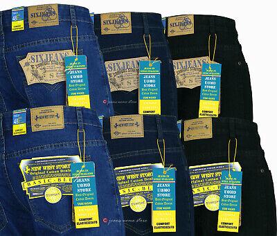 Jeans uomo New Story pantaloni denim elasticizzato regular fit tg 46/64 3 colori