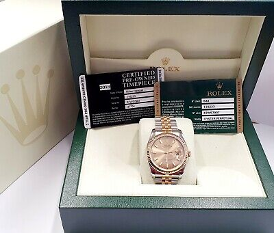 116233 Rolex Datejust Oyster Perpetual 116233 Gents Watch Steel & Gold