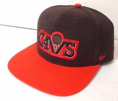 Browns Colors! CLEVELAND CAVS SNAPBACK HAT Brown&Orange 80s Logo Cap - Cavs Colors