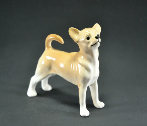 Statuette made of porcelain dog Chihuahua