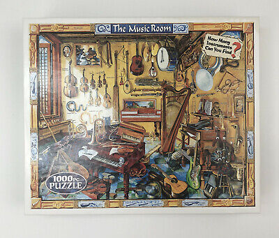 White Mountain 1000 Piece Jigsaw Puzzle The Music Room Complete USA