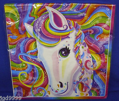 Lisa Frank Birthday Party Supplies Rainbow Majesty Horse Luncheon Napkins 16 Ct
