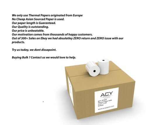 """Thermal Paper Receipt Rolls, 3 1/8"""" x 230"""