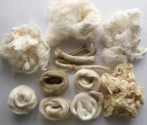 100g Undyed Natural Fibres Creative Textile Art Craft Bundle Mix Media Felt Spin