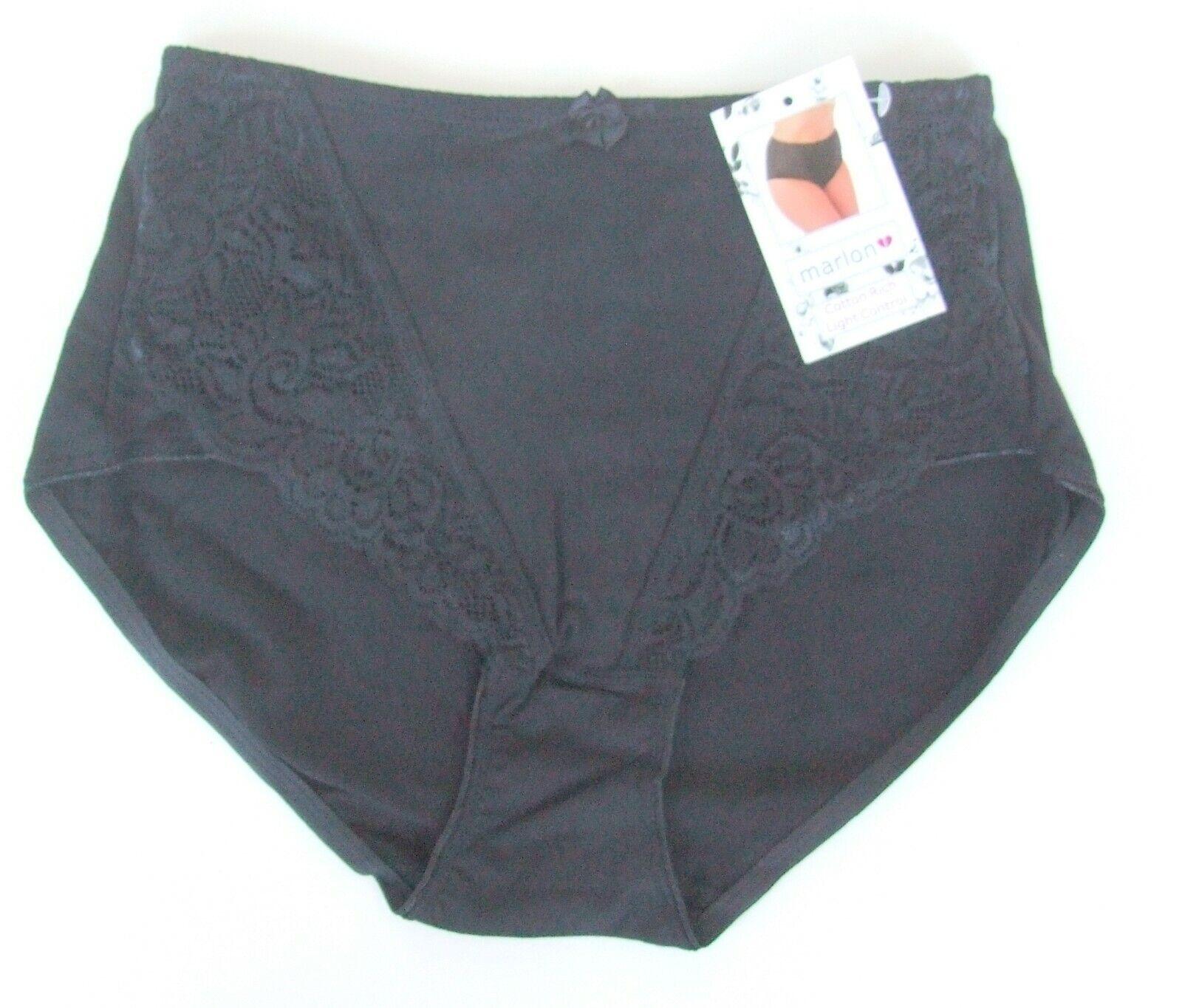 Ladies size 18 cotton medium control Maxi Briefs knickers panties White