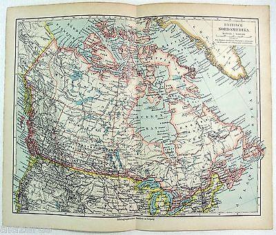 Original German Map of British America in 1900