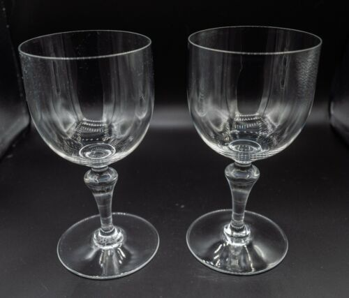 "Baccarat Crystal Normandie Tall Water Glasses 6 1/2"" H Pair FREE USA SHIPPING"