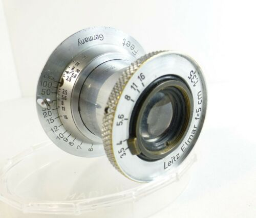 Leica Leitz 5cm f=3.5 Elmar Collapsible M39 Screw Mount Lens