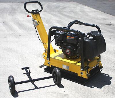 Walk Behind Vibratory Dirt Plate Compactor Rammer Driveway Paver 6.5hp Gas Power