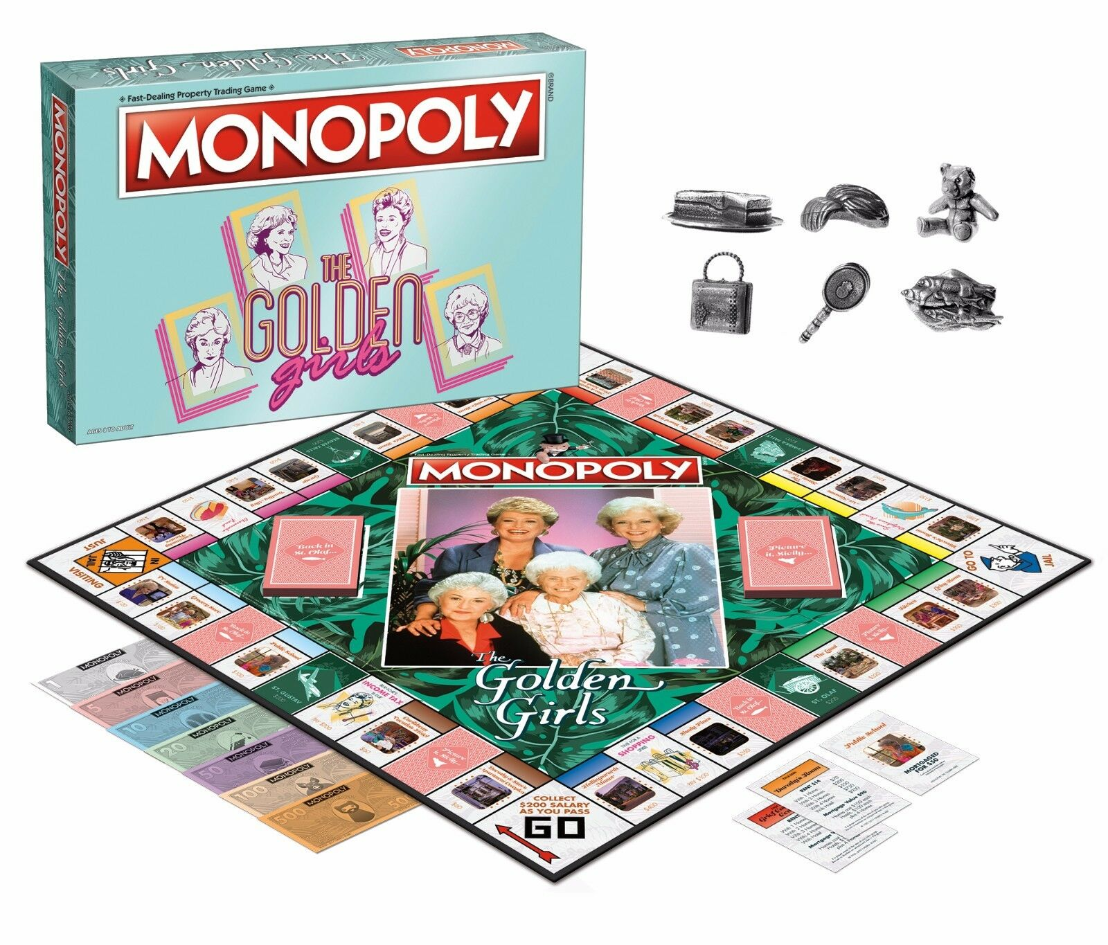 USAopoly MONOPOLY® Call Of Duty, IT, Guardians of The Galaxy, Warhammer  ... TheGoldenGirls